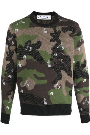 Off-White Camouflage-print intarsia-knit jumper