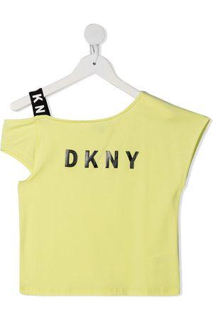 DKNY T-shirts - Logo print asymmetric T-shirt