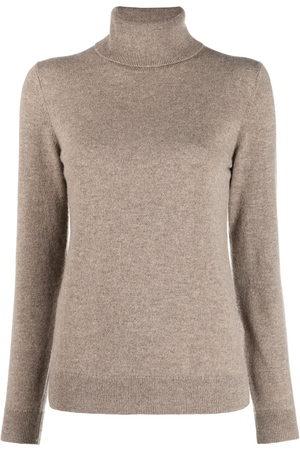 12 STOREEZ Women Turtlenecks - Roll neck cashmere jumper - Neutrals