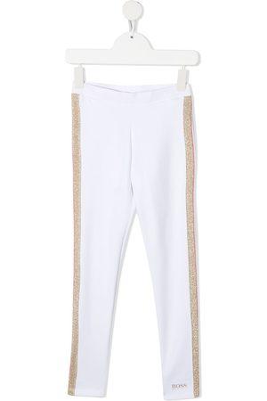 HUGO BOSS Girls Leggings - Glitter-effect striped leggings