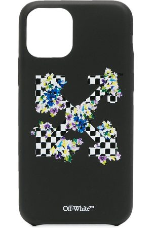 OFF-WHITE Check flowers iPhone 11 Pro case