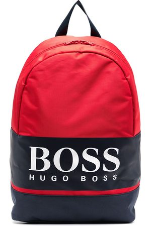 HUGO BOSS Boys Rucksacks - Colour-block logo print backpack