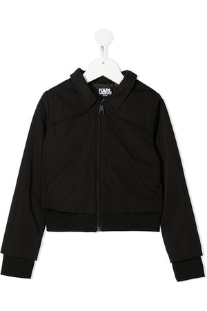 Karl Lagerfeld Slogan-print coach jacket