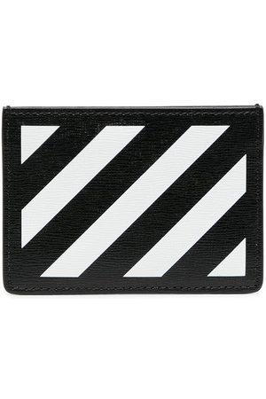 OFF-WHITE Diag-print cardholder