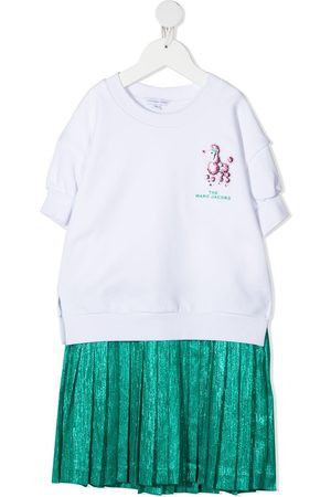 The Marc Jacobs Girls Casual Dresses - Logo-embroidered pleated midi dress