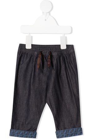 Fendi Jeans - FF-trim trousers