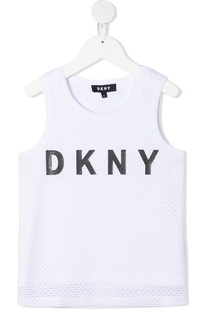 DKNY Girls Tank Tops - Logo print sleeveless top