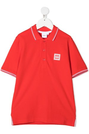 HUGO BOSS Boys Polo Shirts - Logo-patch polo shirt