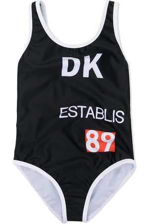 DKNY Girls Swimsuits - Logo print swimsuit
