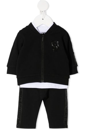 Karl Lagerfeld Logo-patch zipped tracksuit