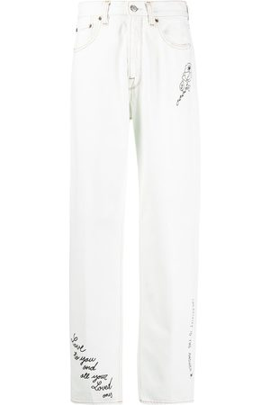 Golden Goose Slogan-print straight-leg jeans