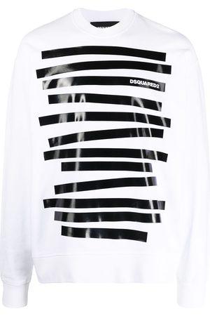 Dsquared2 Men Sweatshirts - Striped cotton sweatshirt