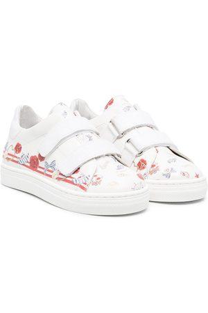 MONNALISA Girls Sneakers - Mix-print touch-strap sneakers