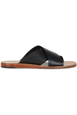 Dolce & Gabbana Cross-strap leather sandals