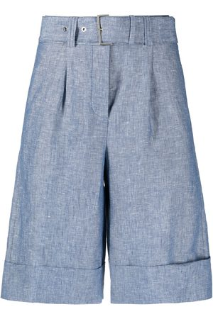 PESERICO SIGN Belted knee-length shorts