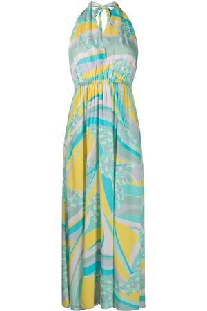Emilio Pucci Abstract-print long beach dress