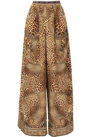 Camilla Women Wide Leg Pants - Lady Lodge silk palazzo trousers
