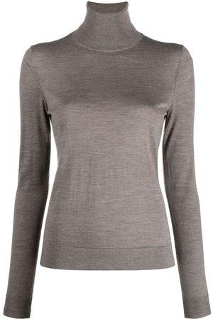 12 STOREEZ Women Turtlenecks - Roll neck merino jumper