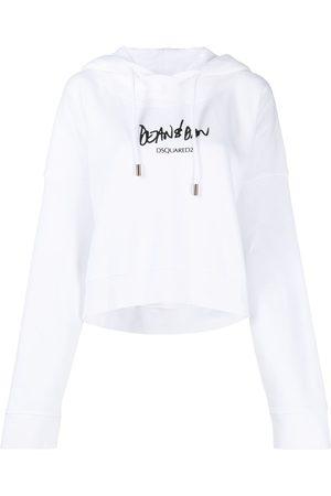 Dsquared2 Women Hoodies - Logo-print flared hoodie