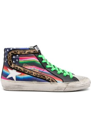 Golden Goose Signature star-patch lace-up sneakers - Multicolour