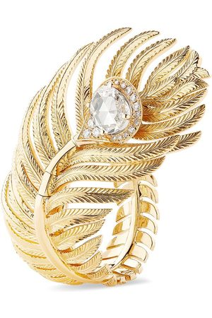 Boucheron Women Rings - 18kt yellow diamond Plume de Paon large ring