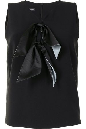 Emporio Armani Knot-detail sleeveless blouse