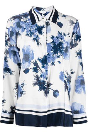 P.a.r.o.s.h. Floral-print long-sleeve shirt