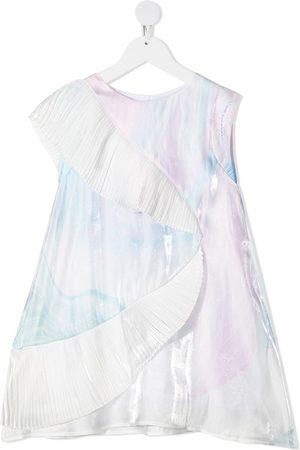 Karl Lagerfeld Irridescent frill sleeve dress