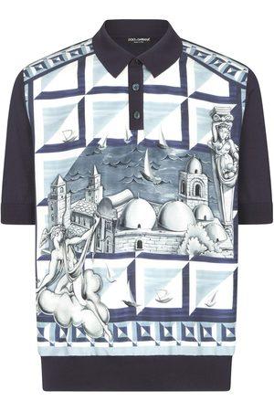 Dolce & Gabbana Graphic-print polo shirt