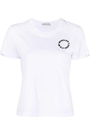 Moncler Women Short Sleeve - Logo print short-sleeve T-shirt