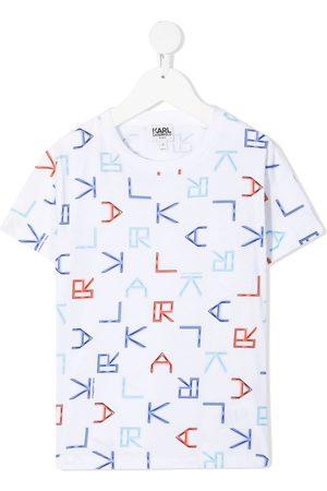 Karl Lagerfeld Tetris Karl neon print T-shirt