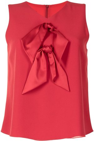 Emporio Armani Women Tank Tops - Knot-detail sleeveless blouse