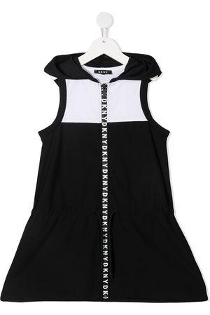 DKNY Girls Casual Dresses - Colour-block hooded dress