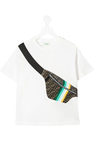 Fendi Boys T-shirts - Belt bag-print T-shirt