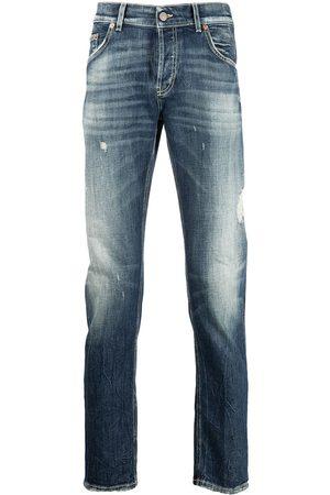 DONDUP Organic cotton-blend distressed jeans