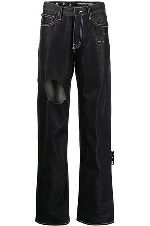 OFF-WHITE Cut-out detail denim jeans