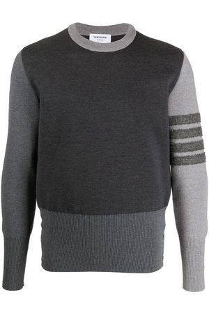 Thom Browne 4-Bar Fun Mix Shetland wool jumper - Grey