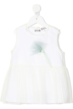 Il gufo Girls Blouses - Layered tulle blouse