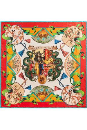 Dolce & Gabbana Women Scarves - Silk Road-print silk-twill scarf