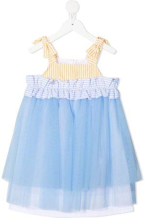 Simonetta Girls Casual Dresses - Tulle panel cotton dress