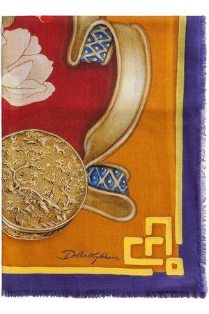 Dolce & Gabbana Women Scarves - Silk Road-print modal-cashmere blend scarf