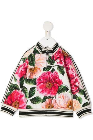 Dolce & Gabbana Floral-print zip-up sweatshirt