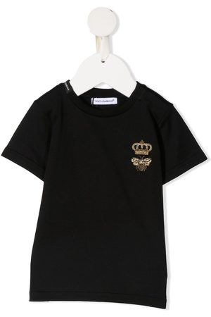 Dolce & Gabbana T-shirts - Bee crown embroidered T-shirt