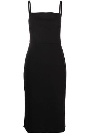 12 STOREEZ Sleeveless square-neck midi dress