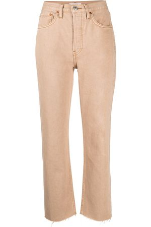 RE/DONE High-waisted cropped jeans - Neutrals
