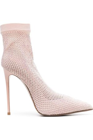 LE SILLA Knitted mesh ankle boots