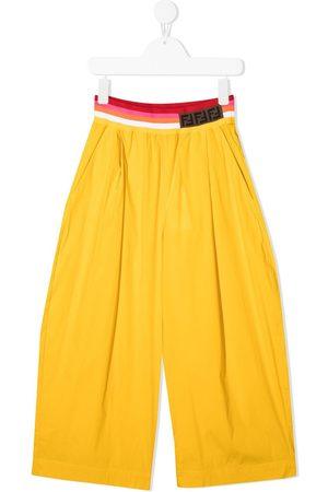 Fendi FF logo wide-leg trousers