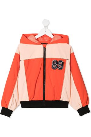 DKNY Logo-embroidered jacket