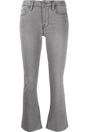 Frame Kick flare cropped jeans - Grey