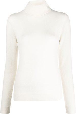 12 STOREEZ Roll neck cashmere sweater - Neutrals